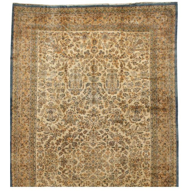 Antique Oversize Lavar Kerman Carpet - Image 1 of 1
