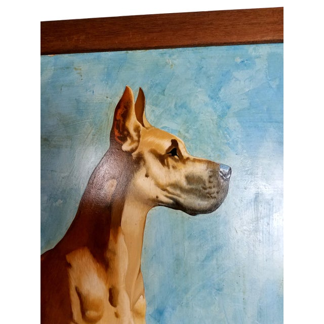 Great Dane Acrylic Painting - Image 4 of 5