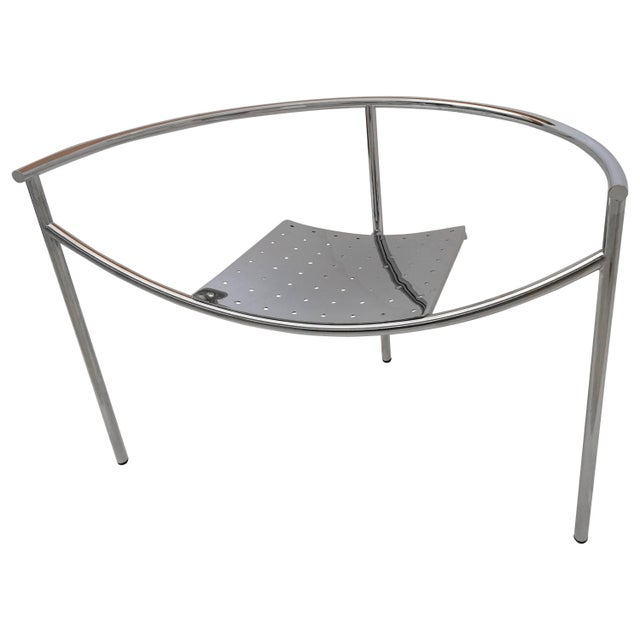 Vintage Mid Century Philippe Starck Doctor Sonderbar Chrome Chair For Sale - Image 10 of 10