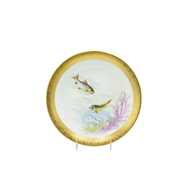 Victorian French Victorian Porcelain Dinner Plates - Set of 12 For Sale - Image 3 of 11