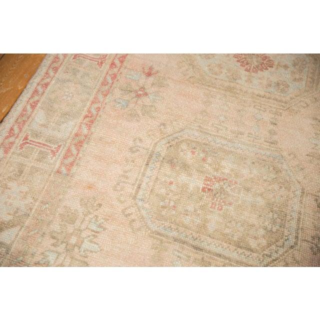 """Pink Vintage Distressed Oushak Rug Runner - 4'8"""" X 11'5"""" For Sale - Image 8 of 13"""