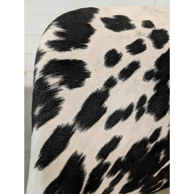 Mid Century Modern Shaw Walker Faux Cowhide & Aluminum Chair For Sale - Image 9 of 11
