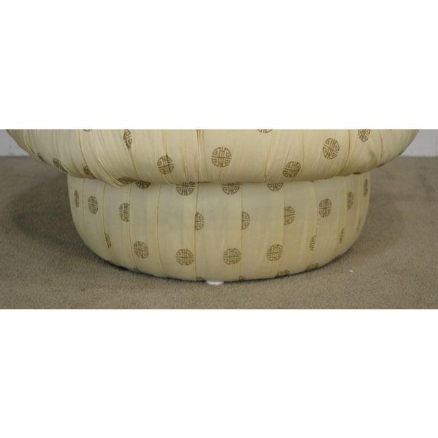 Postmodern Custom Upholstered Pair Mushroom Pouf Ottomans After Karl Springer For Sale - Image 12 of 13