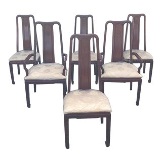 Mid-Century Chinese Rosewood Dining Chairs - Set of 6 For Sale