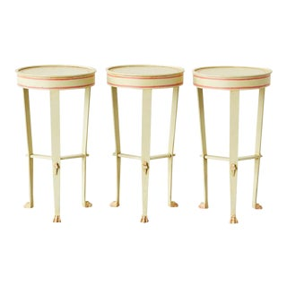 French Neoclassical Iron Drink Tables - Set of 3 For Sale