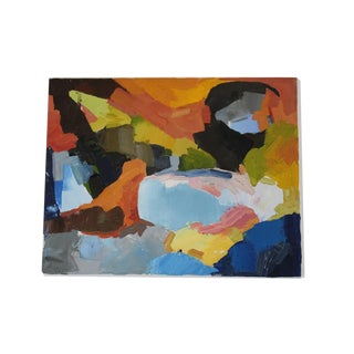 Richly Colored Abstract Painting For Sale