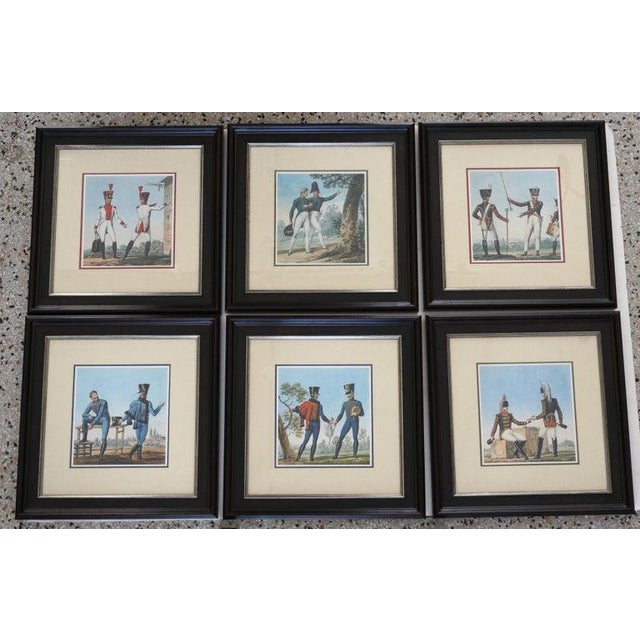 Vintage 1800's Style French Military Soldier Prints - a Set of 6 For Sale - Image 13 of 13