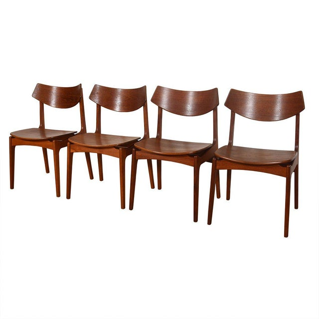Danish Teak Curved Back Dining Chairs - Set of 4 For Sale - Image 13 of 13