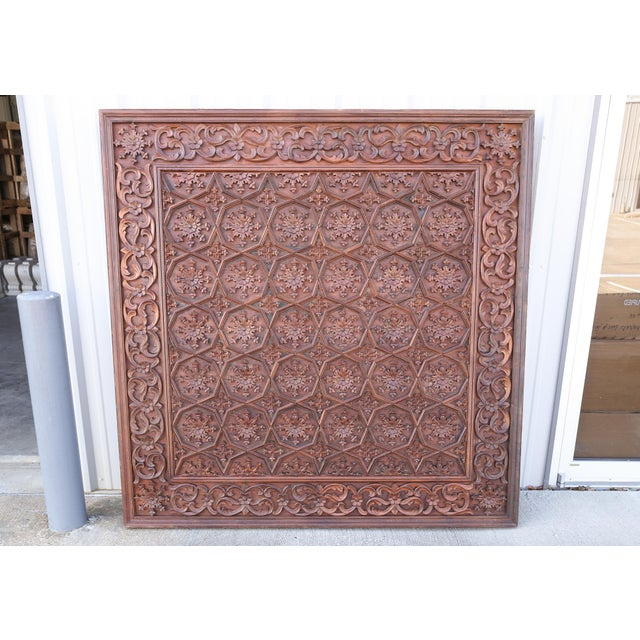 For sheer beauty and the quality of carving this ceiling is unmatched by any in the market. It was the tradition in those...