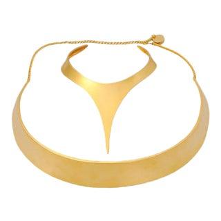 Robert Lee Morris for Donna Karan Collar and Belt For Sale