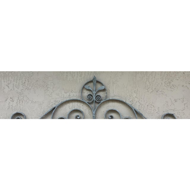 Architectural wall hanging made of solid wrought iron ,painted in gray color ,will look great overhead of entrance ,door...