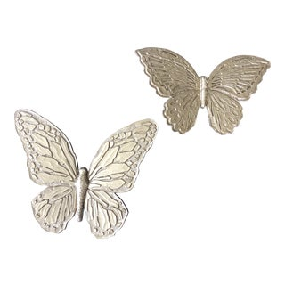 Mid-Century Modern Butterfly Wall Art - a Pair For Sale