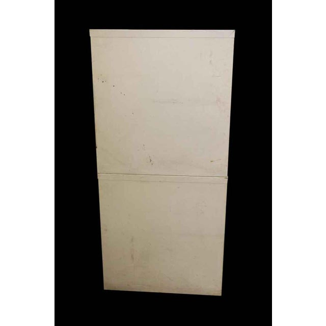 Stackable White Metal Filing Cabinet For Sale - Image 4 of 9