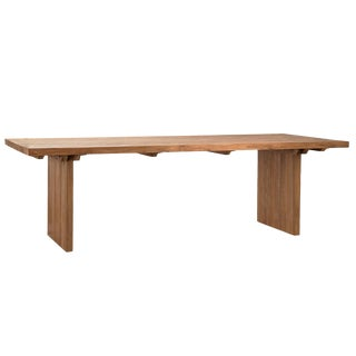 Reclaimed Teak Slab Dining Table For Sale