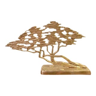 Asian Chinese Brass Bonsai Tree