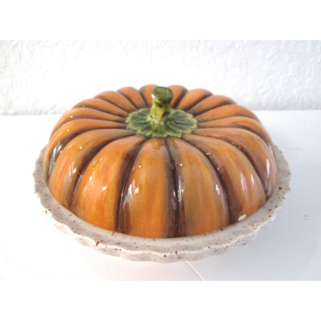 Vintage Ceramic Lidded Pumpkin Pie Dish - Image 2 of 7