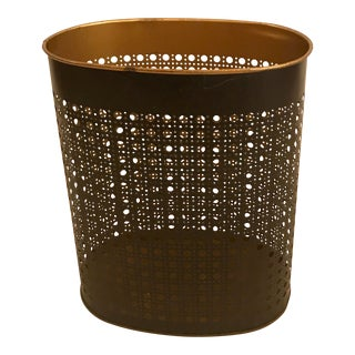 Reticulated Metal Waste Basket For Sale