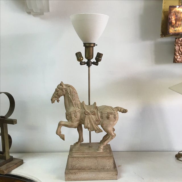 1940s Plaster Lamp of Imperial Horse - Image 7 of 8