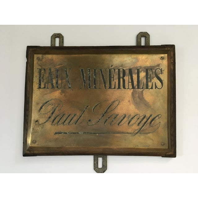 French Faux Minerales Mineral Water Advertising Sign For Sale - Image 12 of 13