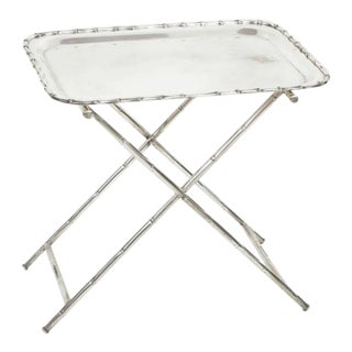 Silver Plate Dessert Tray on Stand For Sale