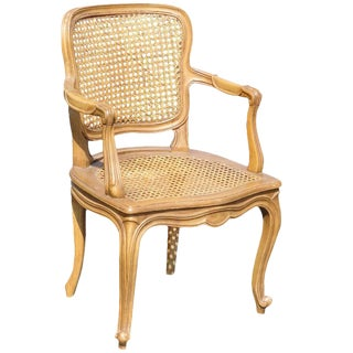 Regency Style Child's Caned Fauteuil