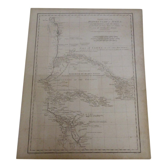 Vintage 1788 Map of the Western African Coast For Sale