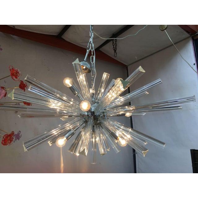 Italian Murano Glass Sputnik Chandelier For Sale - Image 10 of 13