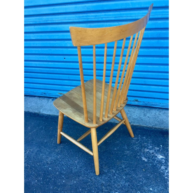 Wood Ethan Allen High Comb Spindle Back Chair For Sale - Image 7 of 11
