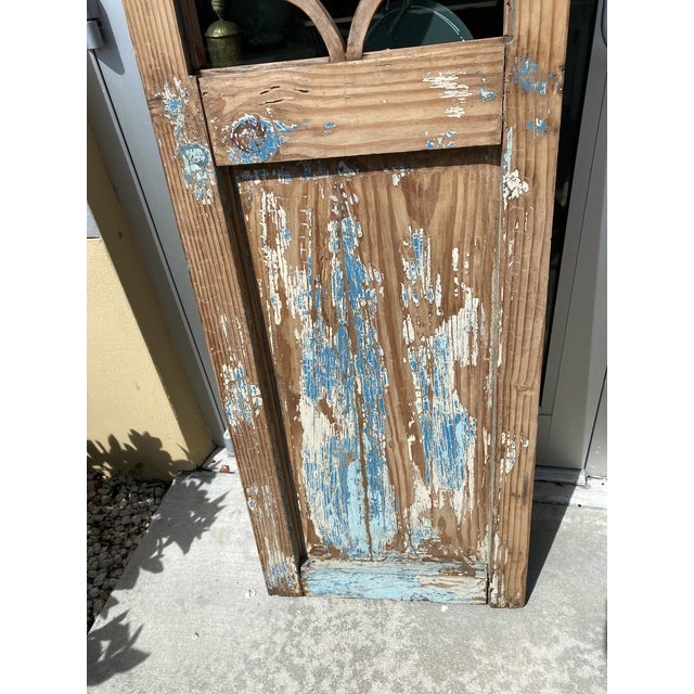 Chestnut Vintage French Country Doors - a Pair For Sale - Image 8 of 10