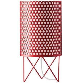 Mid-Century Modern Joaquim Ruiz Millet Red Aluminum 'Abc' Table Lamp