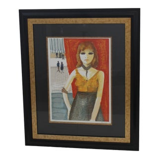 """""""Jeune Fille of Paris"""" Lithograph by Charles Levier For Sale"""