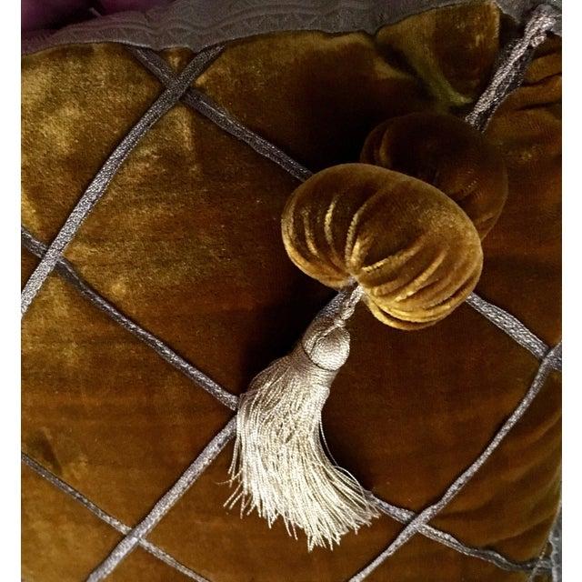 Chic Velvet & Passementerie Throw Pillows - A Pair - Image 8 of 8
