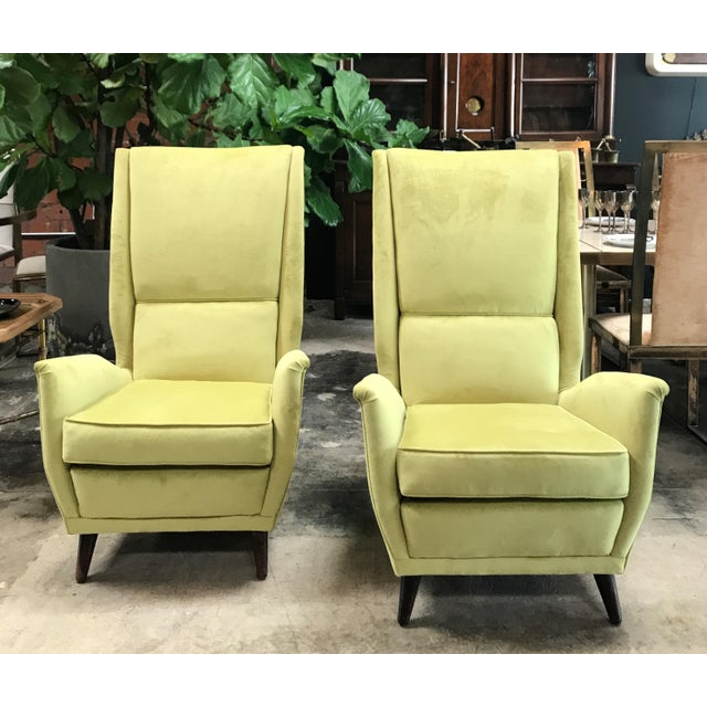 Italian Absolutely Fabulous Armchairs by ISA For Sale - Image 10 of 10