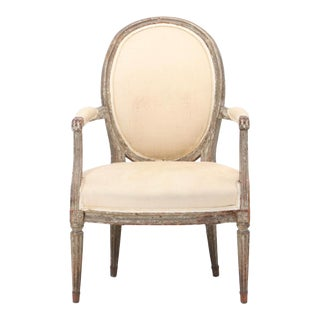 18th Century French Louis XVI Fauteuil For Sale