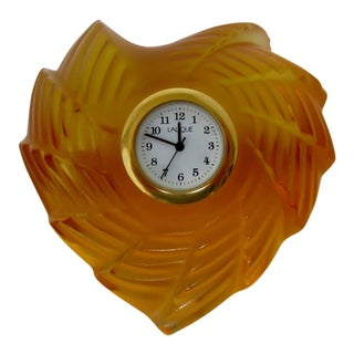 Lalique St. Valentine's Clock For Sale
