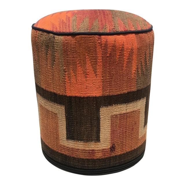 Vintage Kilim Fabric Stool - Image 1 of 5