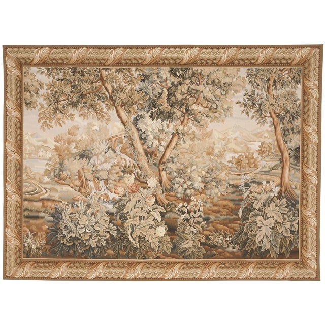 """Chinese Abusson Landscape Tapestry. 5'7""""x 8' - Image 1 of 2"""