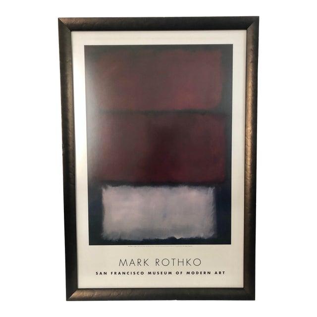 1960s Vintage Rothko Museum Framed Poster Print For Sale
