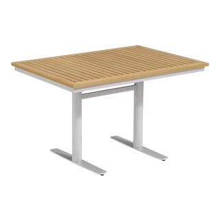 Rectangular Outdoor Bistro Table, Natural For Sale