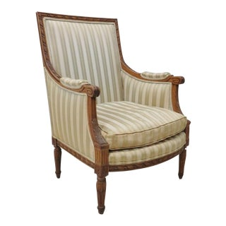Louis XVI Carved Bergere Chair