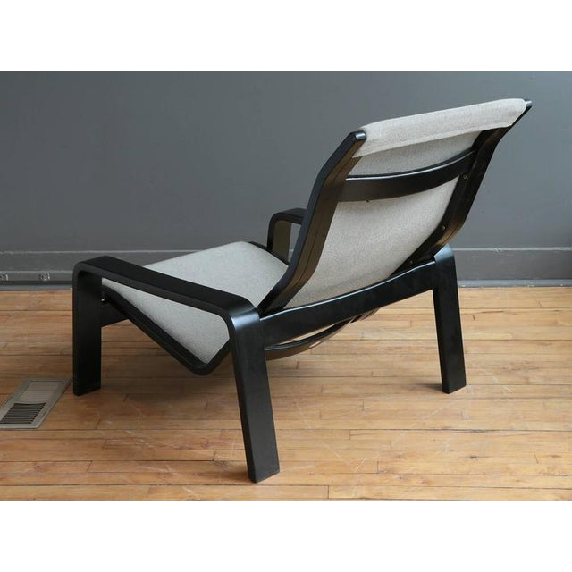 Exceptional 1960s Gray Sling Lounge Chair By Tapio