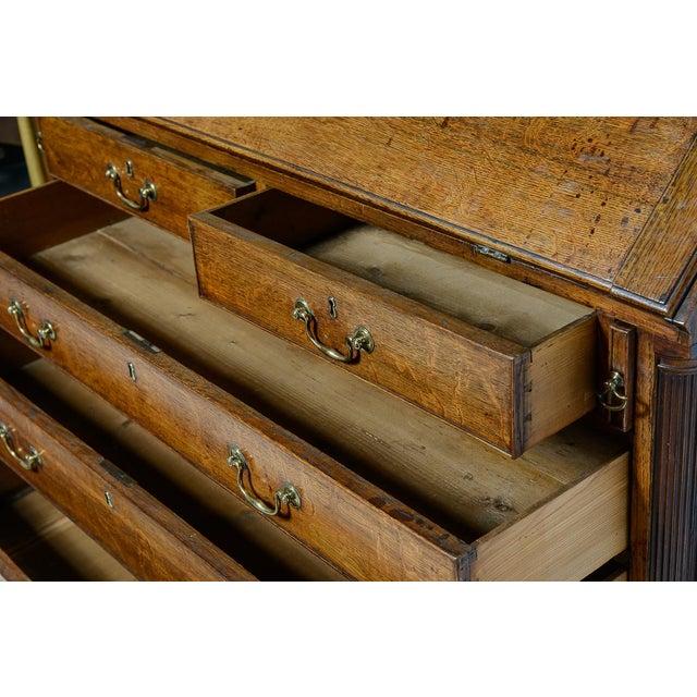 Mid 19th Century Antique Mid 19th Century Oak Slant Front Desk For Sale - Image 5 of 10