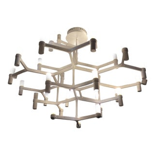 Modern Contemporary White Chandelier For Sale