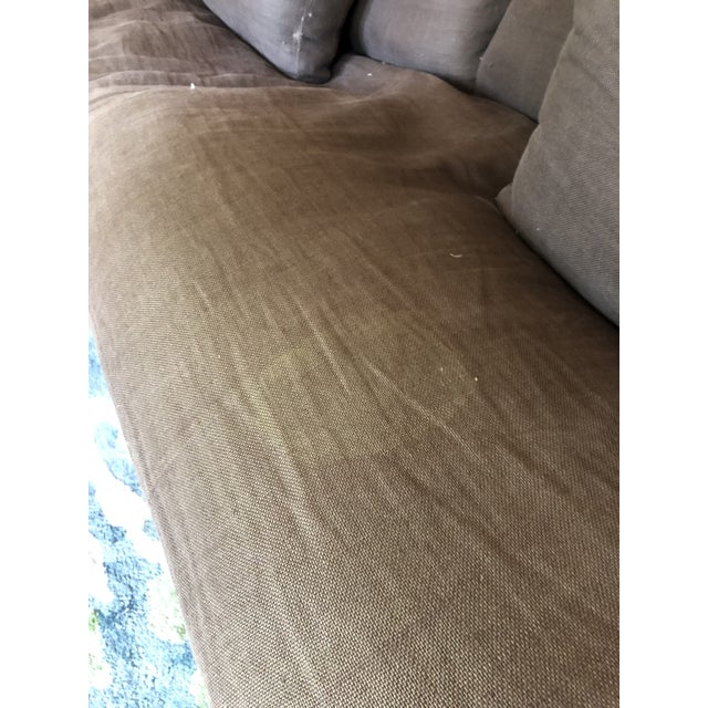 Restoration Hardware Restoration Hardware Belgian Slope Arm Slipcovered Down Sofa For Sale - Image 4 of 6