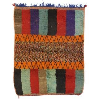Vintage Berber Rehamna Moroccan Rug-3′8″ × 4′8″ For Sale