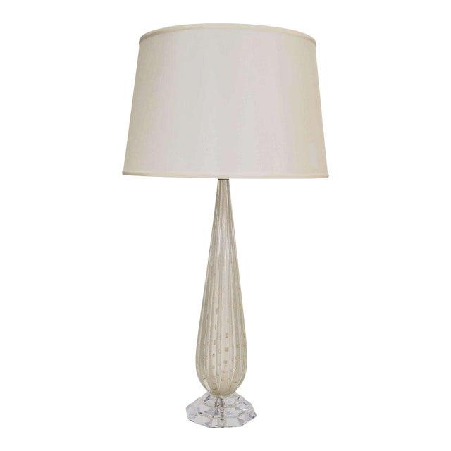 White Murano Glass Lamp For Sale