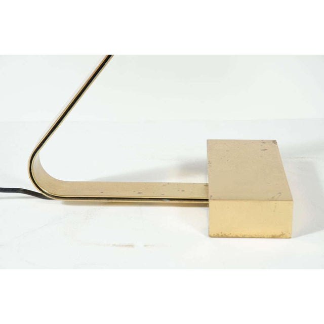 1970s Casella Brass Flat Bar Cantilevered Table Lamp For Sale - Image 5 of 9