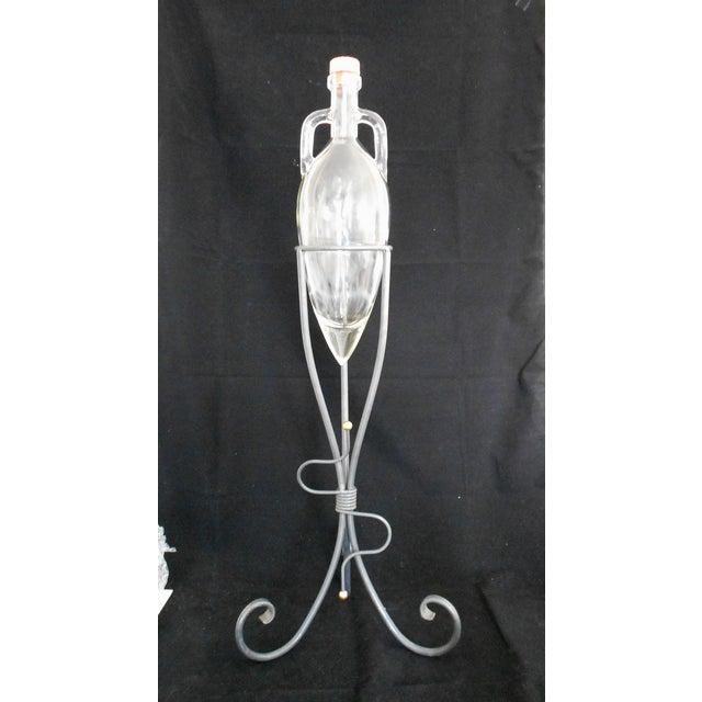 Glass 1970s Art Deco Shonfeld's USA Glass Vinegar Bottle For Sale - Image 7 of 11
