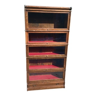 20th Century Traditional Globe Wernicke Barrister Bookcase For Sale