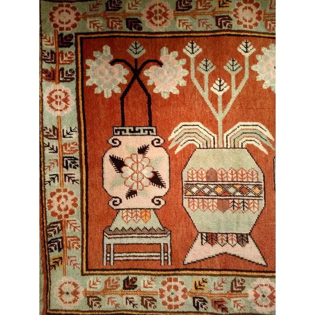 Textile Vintage Khotan Vase Carpet - 5′ × 8′ For Sale - Image 7 of 13